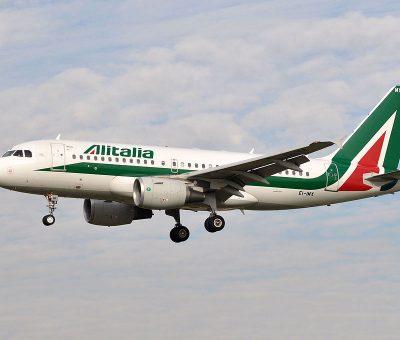 EI IMX Airbus A319 100 of Alitalia at Barcelona Airport