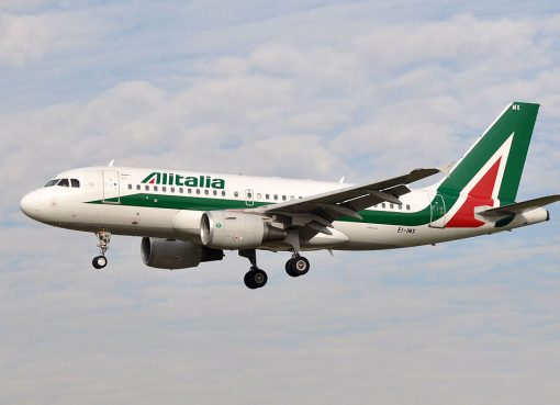 EI IMX Airbus A319 100 of Alitalia at Barcelona Airport