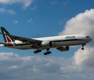 EI ISO Boeing 777 200ER of Alitalia at Miami International Airport