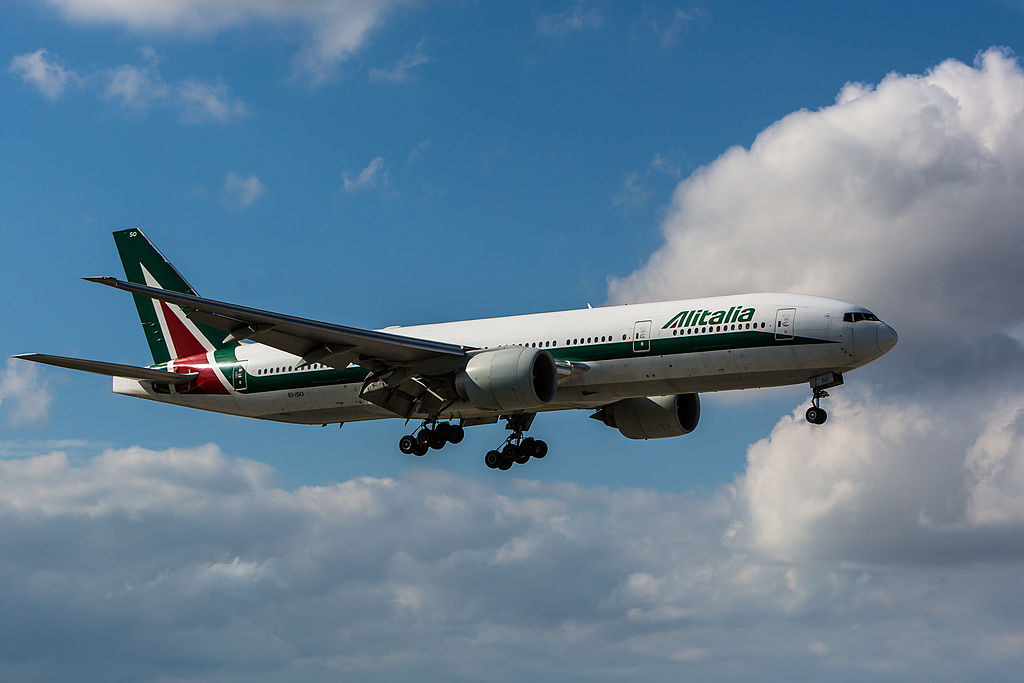 EI ISO Boeing 777 200ER of Alitalia at Miami International Airport