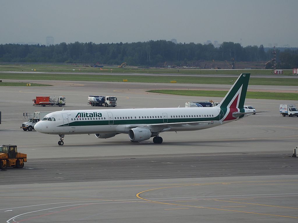 EI IXZ Airbus A321 100 of Alitalia Piazza del Duomo ORVIETO at Sheremetyevo International Airport