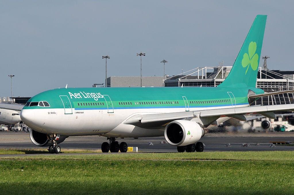 EI LAX Airbus A330 200 of Aer Lingus St Mella at Dublin Airport