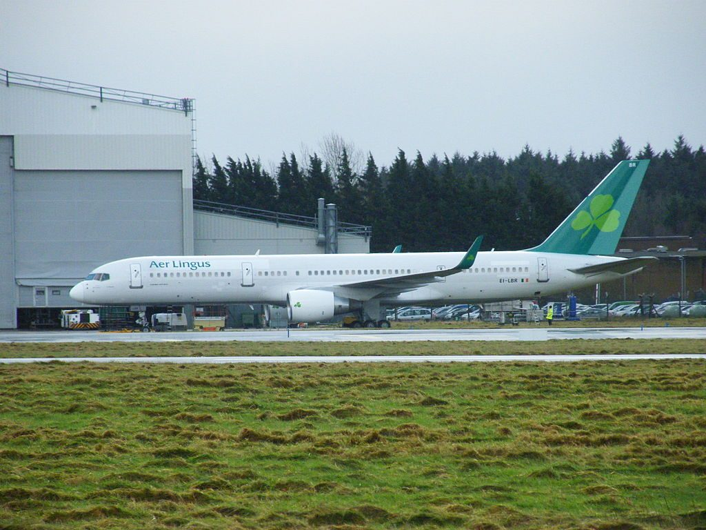 EI LBR Boeing 757 200 of Aer Lingus ASL Airlines Ireland St Otteran Odhrán at Shannon Airport