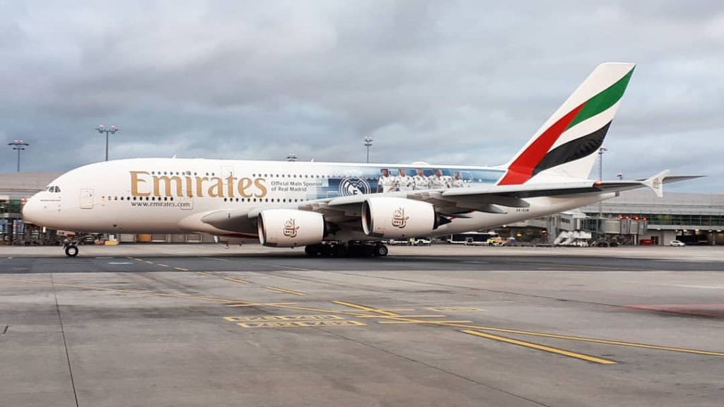 Emirates Airbus A380 800 A6 EUW Real Madrid Livery Colors