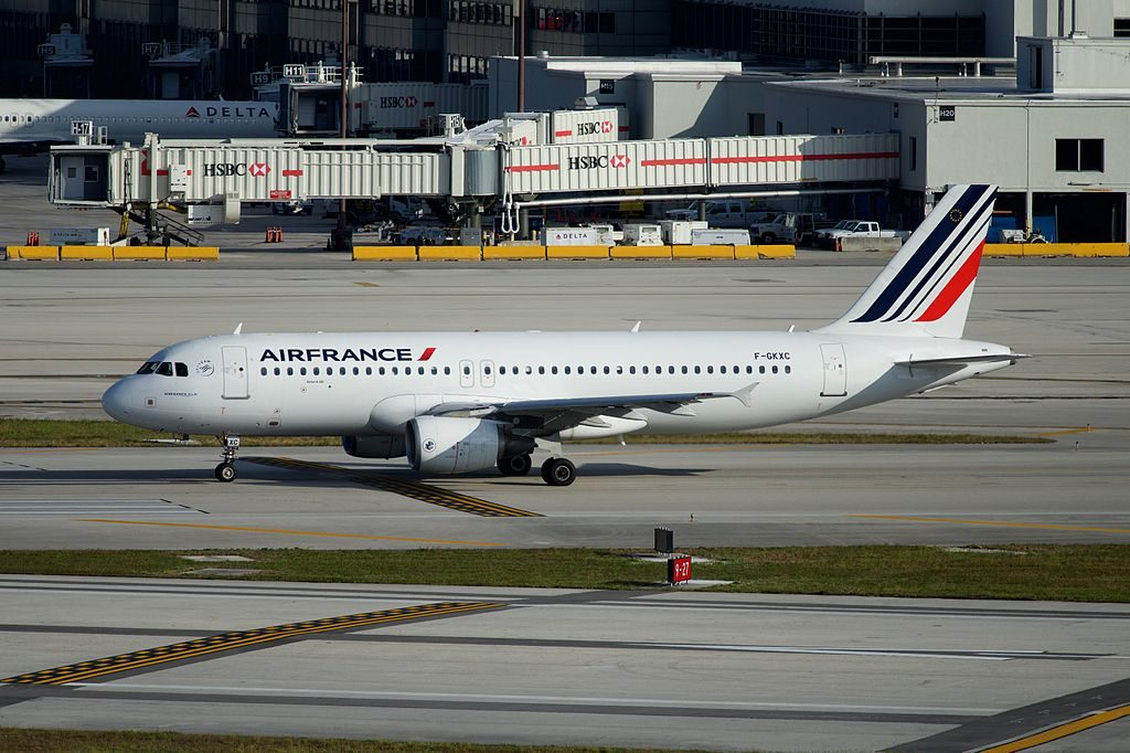 F GKXC Airbus A320 200 of Air France at Miami International Airport