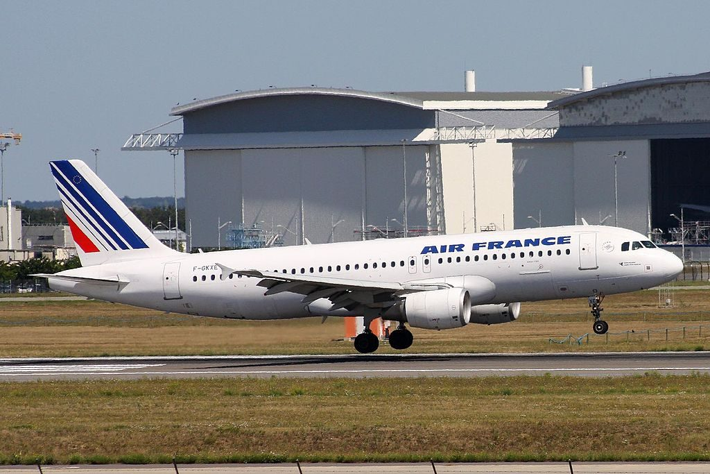 F GKXE Airbus A320 200 of Air France at Toulouse Blagnac International Airport
