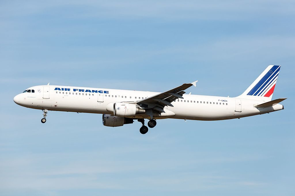 F GMZA Airbus A321 100 of Air France at Toulouse Blagnac International Airport