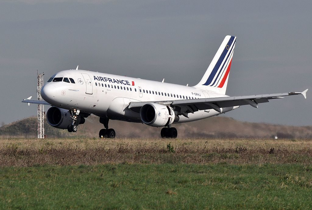 F GRHJ Airbus A319 of Air France at Paris Charles de Gaulle Airport
