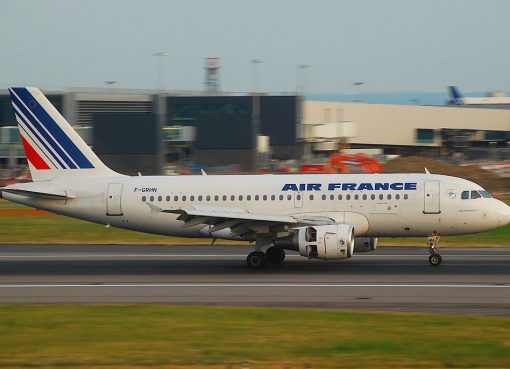 F GRHN Airbus A319 of Air France at London Heathrow Airport