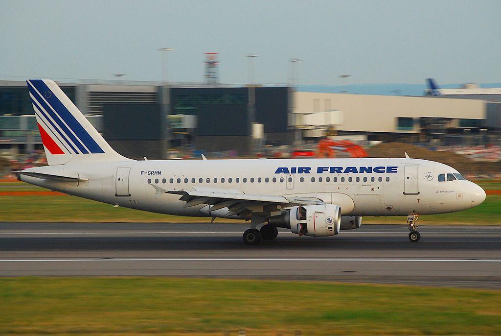 F GRHN Airbus A319 of Air France at London Heathrow Airport