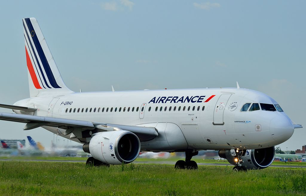 F GRHO Airbus A319 100 of Air France at Toulouse Blagnac International Airport