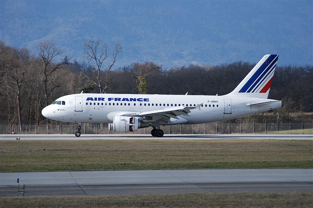 F GRHY Airbus A319 of Air France at Geneva International Airport