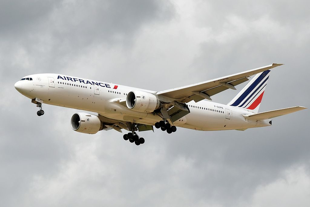 F GSPB Boeing 777 200ER of Air France at Paris Charles de Gaulle Airport
