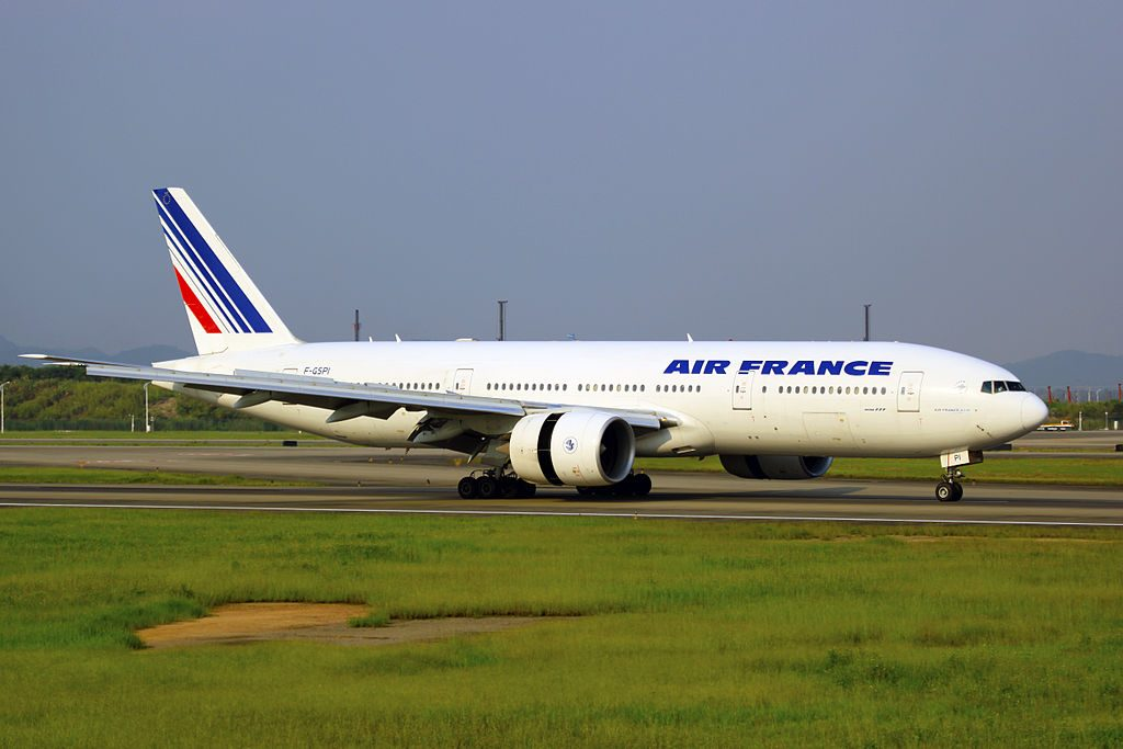 F GSPI Air France Boeing 777 228ER at Guangzhou Baiyun International Airport CAN