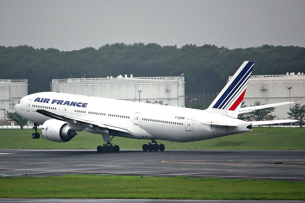 F GSPN Boeing 777 200ER of Air France at Narita International Airport