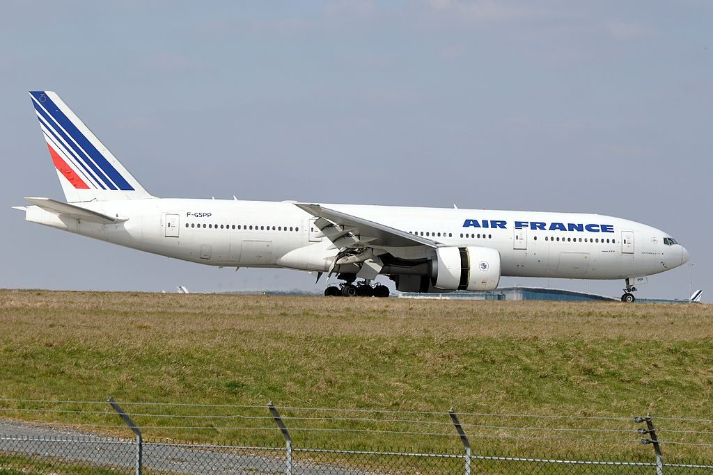 F GSPP Boeing 777 200ER of Air France at Paris Charles de Gaulle Airport