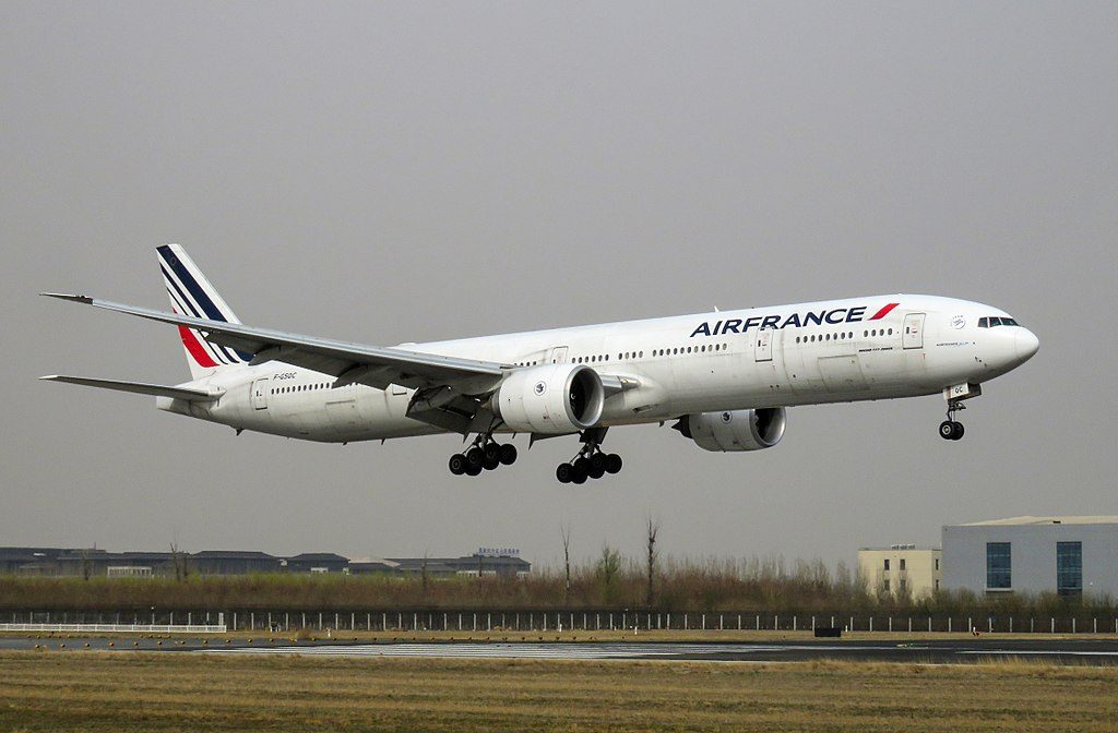 F GSQC Boeing 777 300ER of Air France at Beijing Capital International Airport