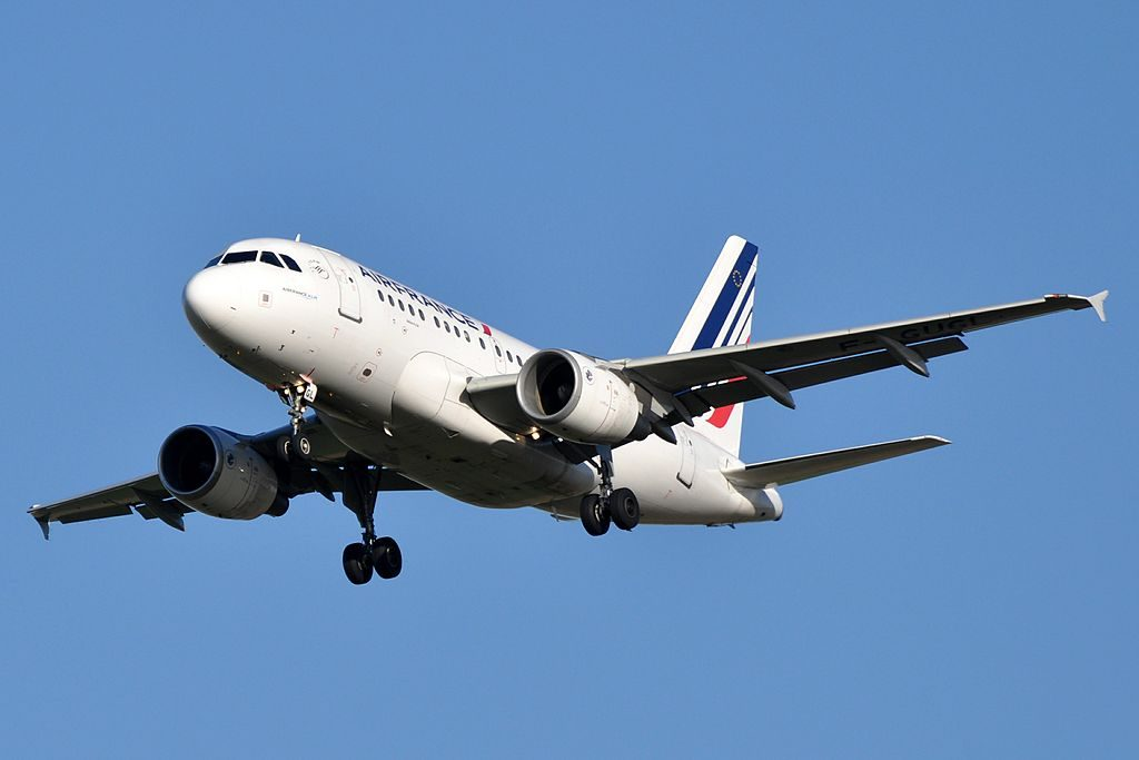 F GUGL Airbus A318 100 of Air France at Paris Charles de Gaulle Airport