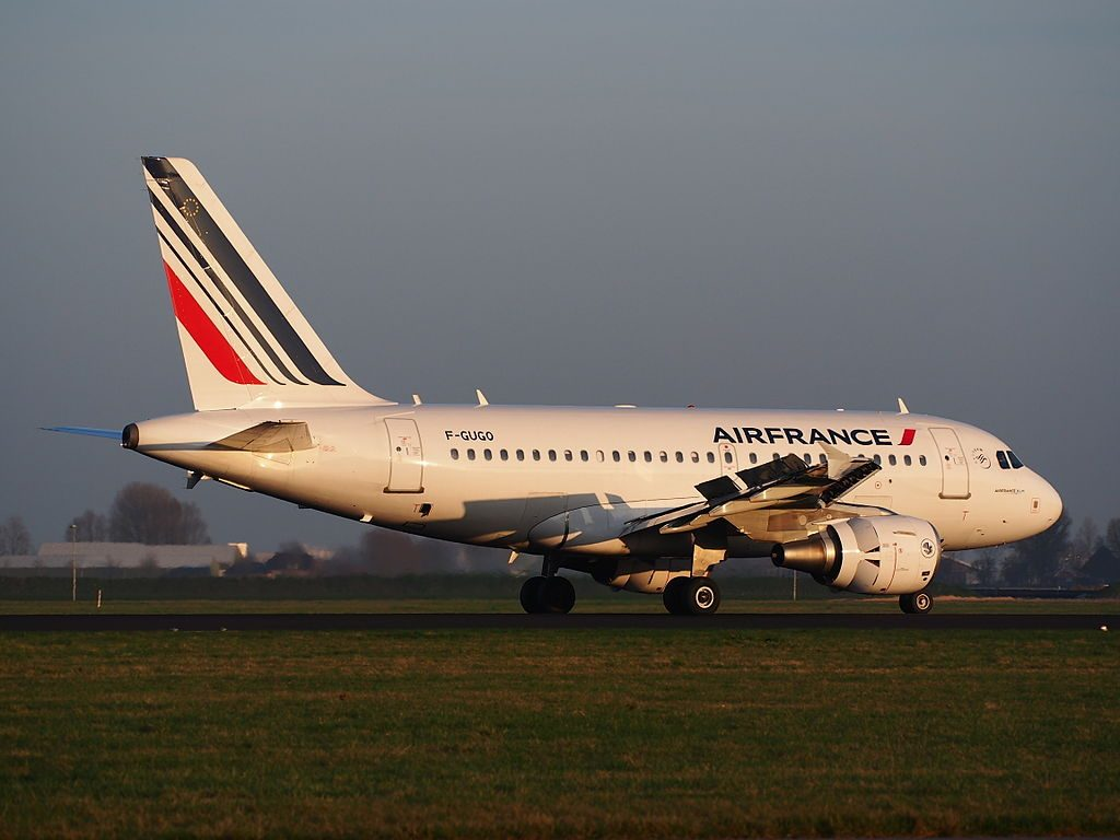 F GUGO Air France Airbus A318 111 landing at Schiphol AMS EHAM