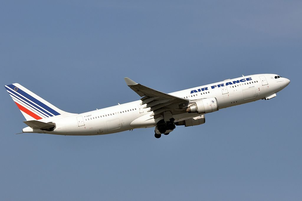 F GZCF Airbus A330 200 of Air France departing at Paris Charles de Gaulle Airport