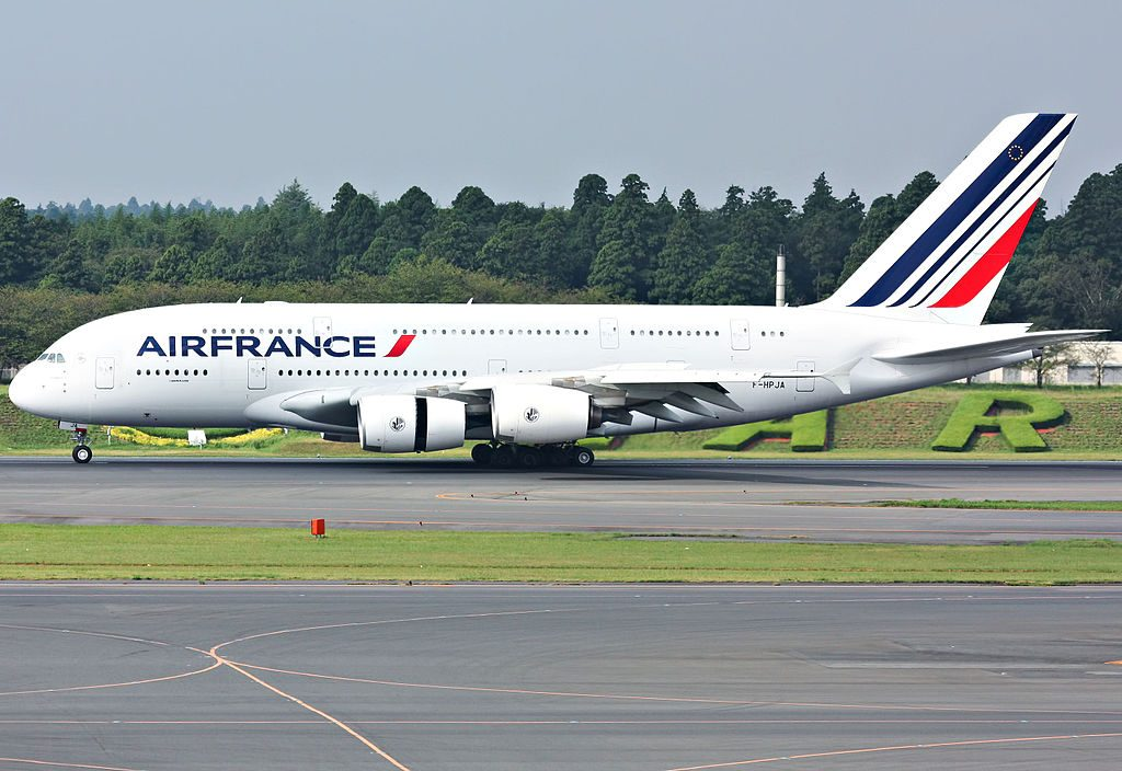 F HPJA Airbus A380 861 Air France arrival at Narita International Airport