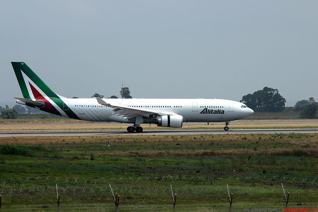 I EJGB Airbus A330 202 Alitalia Francesco Borromini at Rome Fiumicino Airport FCO LIRF