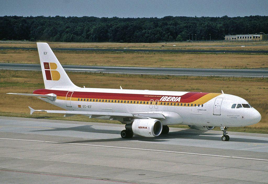 IBERIA Airbus A320 214 EC IEF Castillo de Loarre at Berlin Tegel Airport TXL