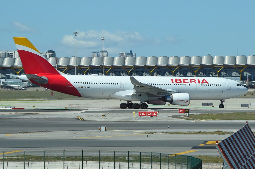 IBERIA Airbus A330 200 Bogotá EC MNK at Madrid Barajas Airport MAD