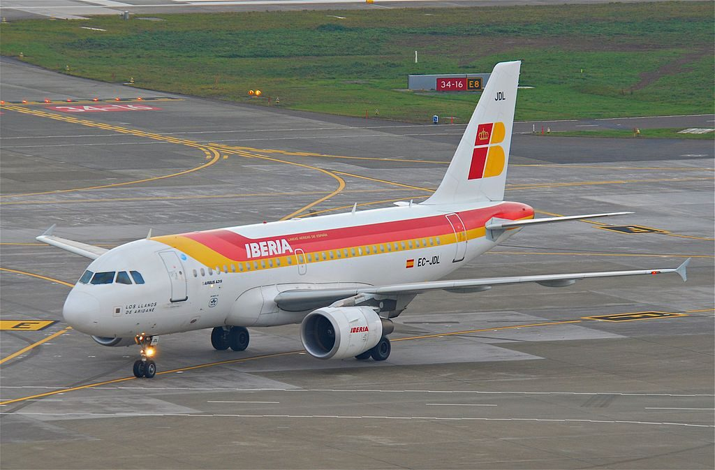 Iberia Airbus A319 111 EC JDL Los Llanos de Aridane at Zurich International Airport ZRH