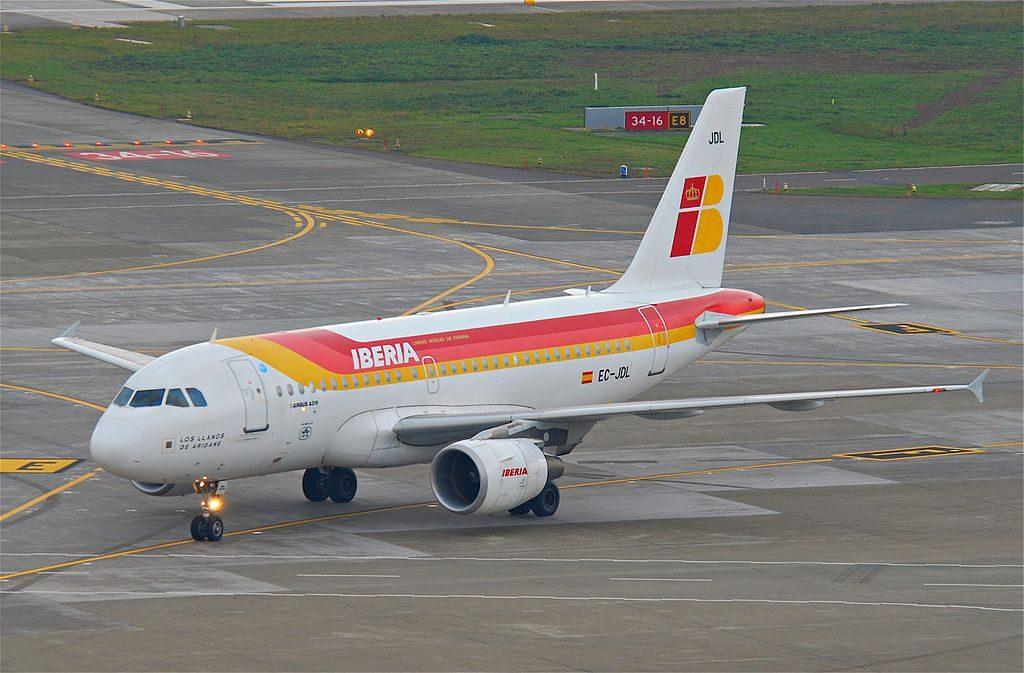 Iberia Airbus A319 111 EC JDL Los Llanos de Aridane at Zurich International Airport ZRH