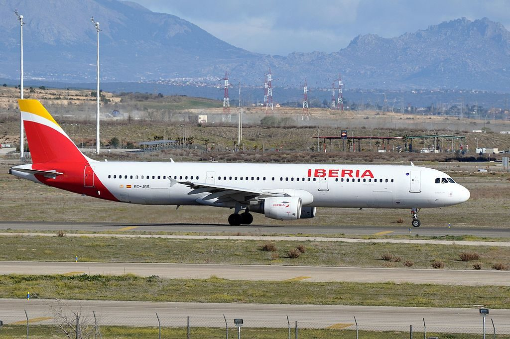 Iberia Airbus A321 213 EC JGS Guadalupe at Madrid Barajas Airport