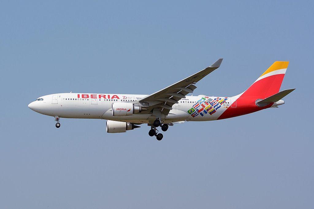 Iberia Airbus A330 200 EC MKI Puerto Rico 70 years with Latin America at Narita International Airport