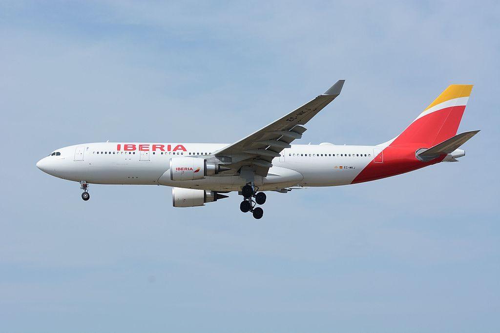 Iberia Airbus A330 200 EC MKJ Montevideo at Narita International Airport