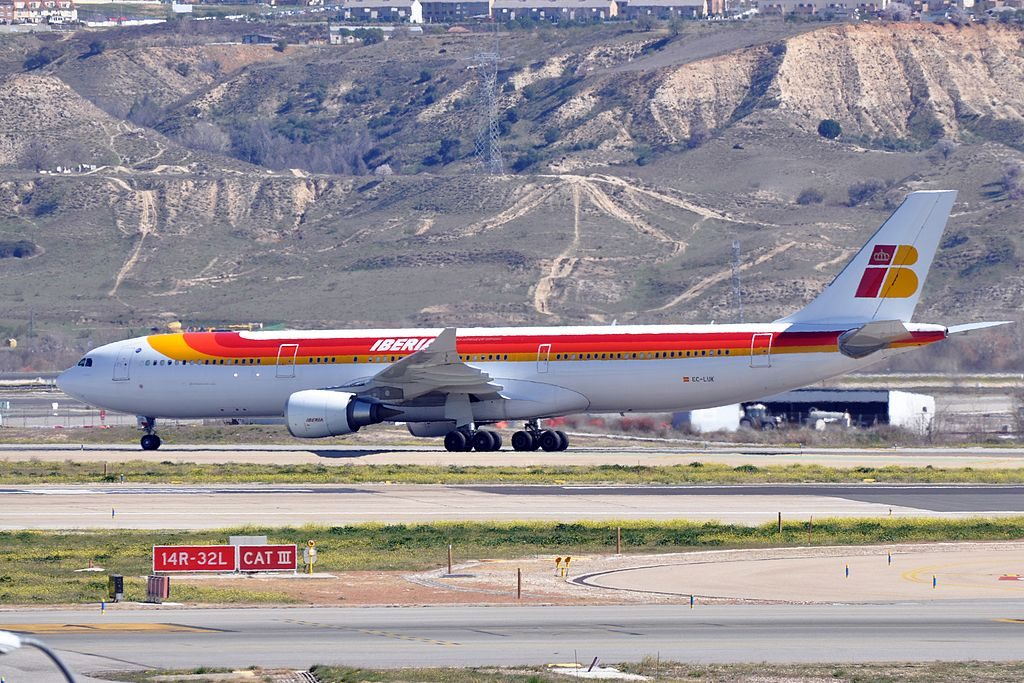 Iberia Airbus A330 302 EC LUK Costa Rica at Madrid Barajas Airport