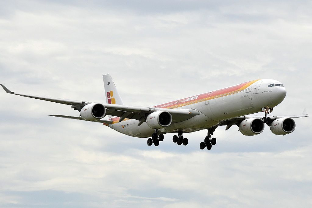Iberia Airbus A340 600 EC JBA Joaquin Rodrigo at Miami International Airport