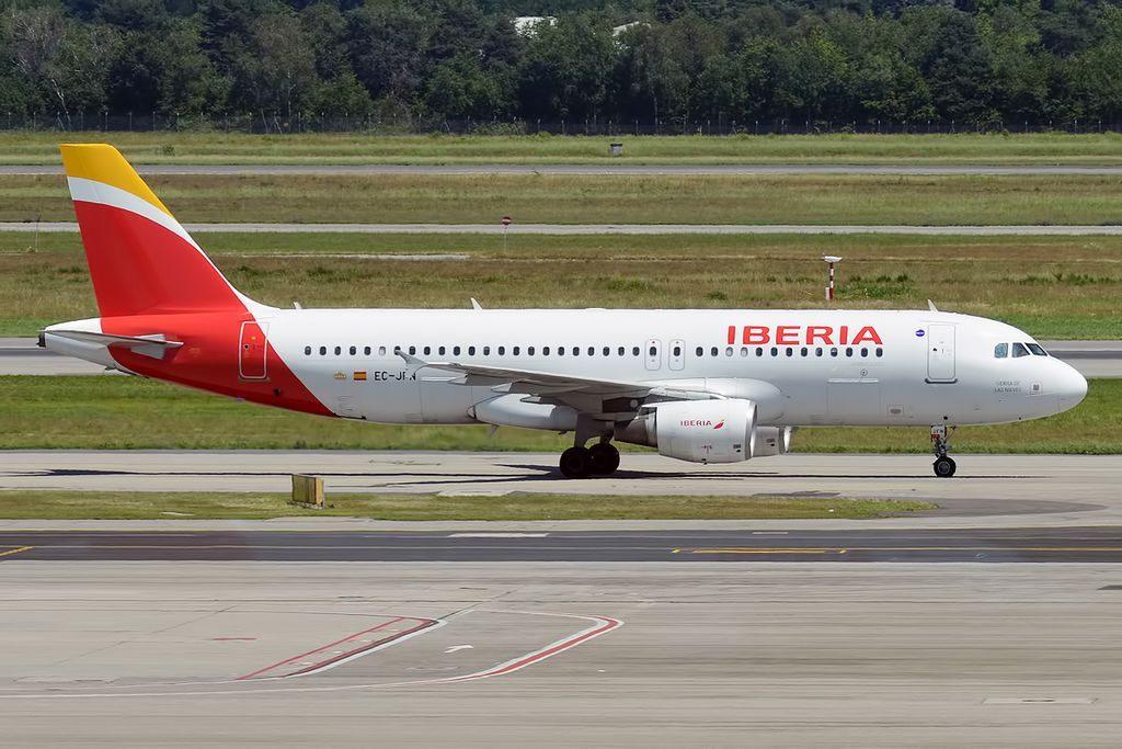 Iberia EC JFN Airbus A320 214 Sierra de las Nieves at Milan Malpensa Airport