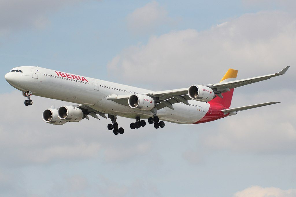 Iberia EC JFX Airbus A340 642 Jacinto Benavente at London Heathrow Airport