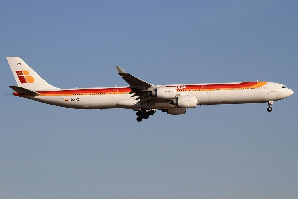 Iberia EC KZI Airbus A340 642 Miguel Hernández at John F. Kennedy International Airport