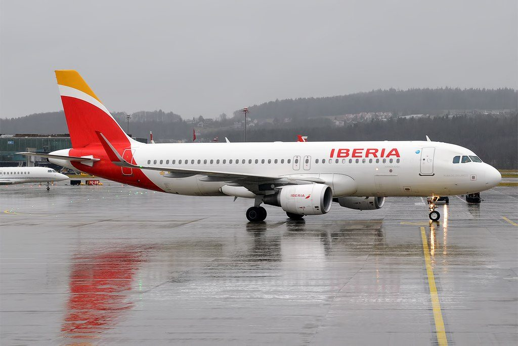 Iberia EC MCS Airbus A320 214wl Playa De Los Lances at Zurich International Airport