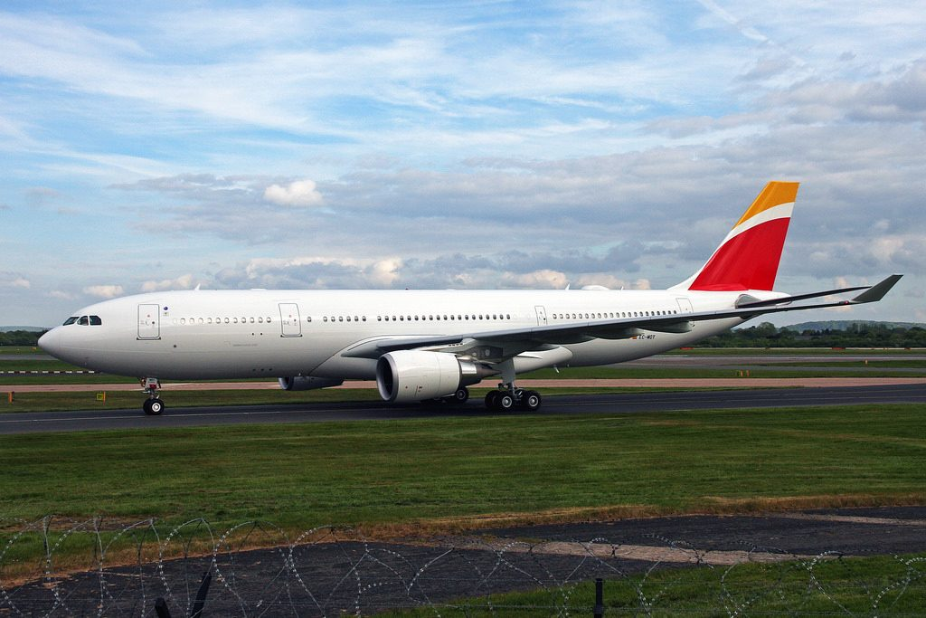 Iberia EC MOY Airbus A330 200 at Manchester Airport