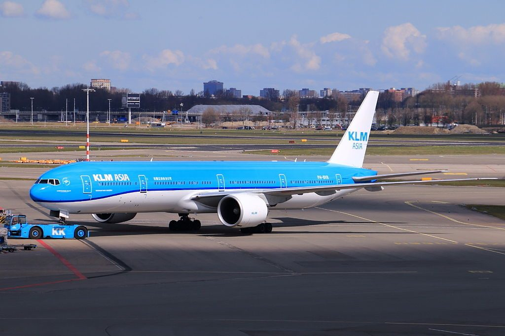 KLM Asia Boeing 777 300ER PH BVB Nationaal Park Fulufjället at Schiphol