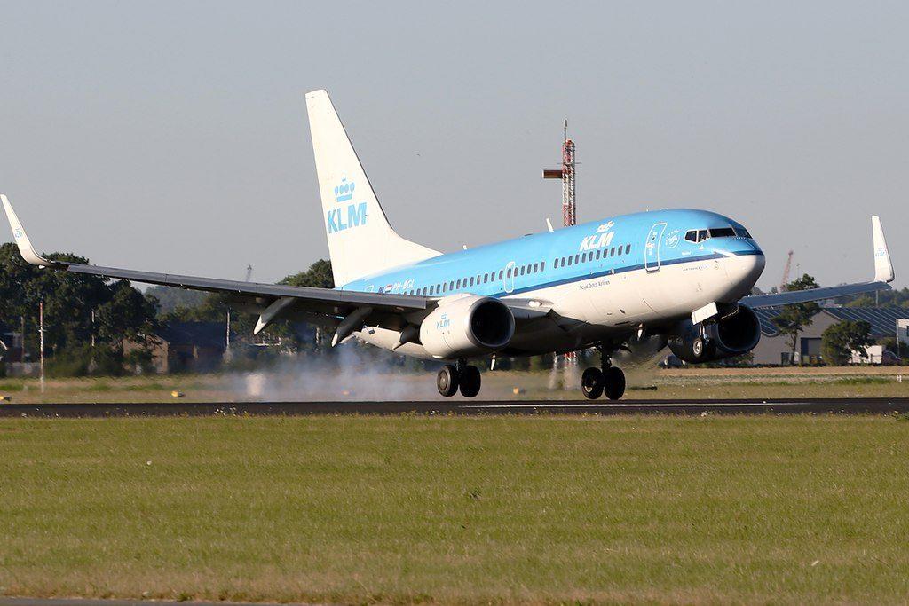 KLM Boeing 737 700 PH BGL Rietzanger Warbler landing at Amsterdam Schiphol
