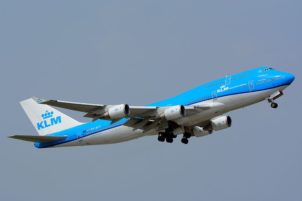 KLM Boeing 747 400M PH BFT City of Tokyo take off at Narita International Airport