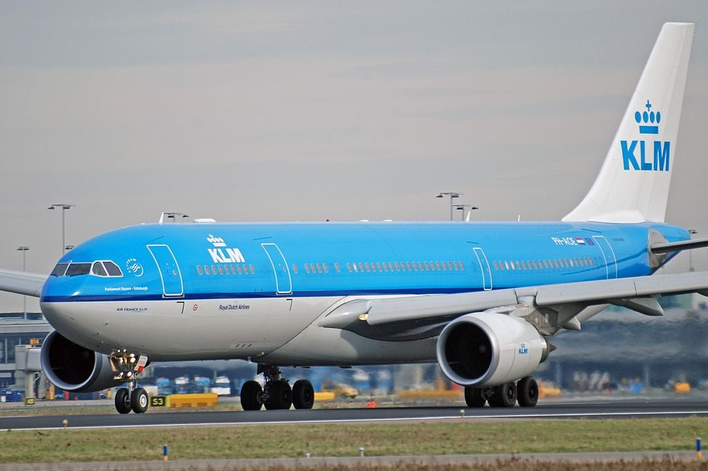 KLM PH AOE Airbus A330 203 Parliament Square Edinburgh at Amsterdam schiphol EHAM