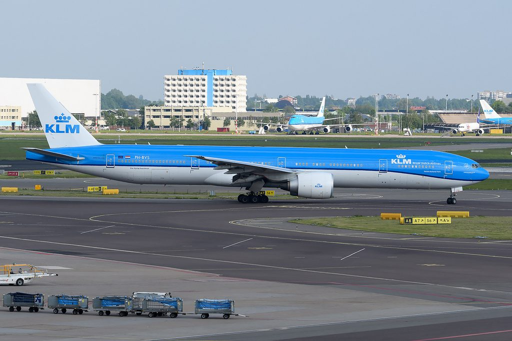 KLM PH BVS Boeing 777 306ER Nationaal Park Darien taxiing at Amsterdam Schiphol