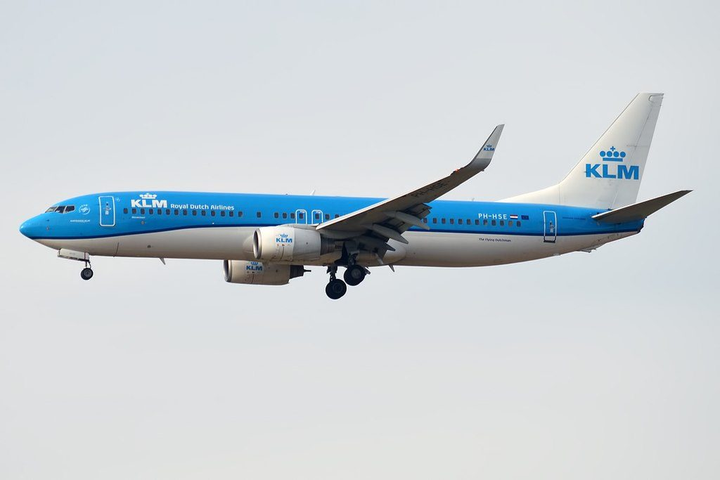 KLM PH HSE Boeing 737 8K2 Blauwstaart Blue Tail at Paris Charles de Gaulle Airport