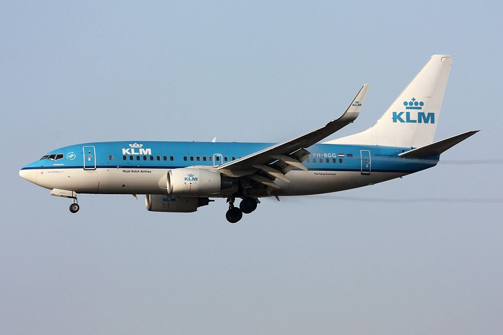 KLM Royal Dutch Airlines Boeing 737 7K2 PH BGG Koningseider King Eider at Zurich International Airport