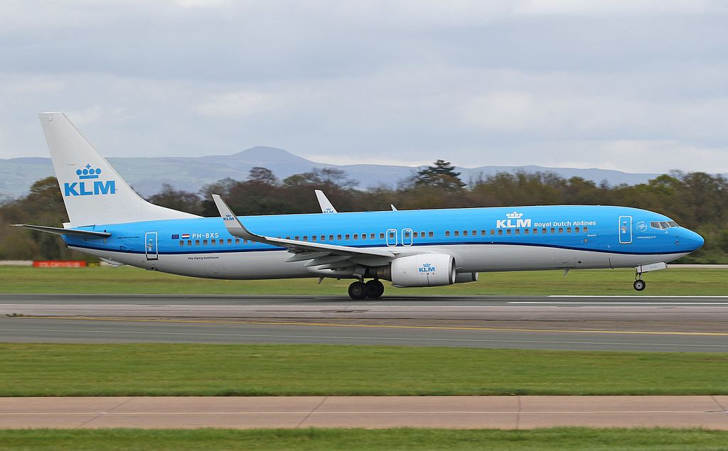 KLM Royal Dutch Airlines Boeing 737 9K2 PH BXS Buizerd Buzzard at Manchester Airport