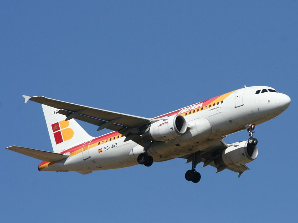 Las Médulas EC JAZ Airbus A319 100 of Iberia at Ben Gurion International Airport