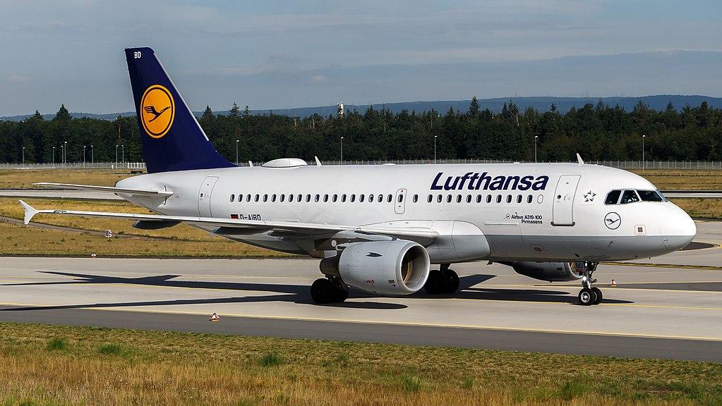 Lufthansa Airbus A319 112 D AIBD Pirmasens at Frankfurt Airport
